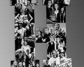 Custom  Photo Collage letter  - Girlfriend gift - College dorm room decor - Wedding