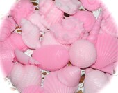Sea Shell Soap - Seashell Soap -Individual Sea Shell Hand Soaps in Shades of Pink - All Natural Goat's Milk Soap