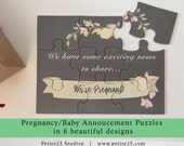 Pregnancy baby announcement puzzle, sweet pea to our pod, another nut to the family, you're going to be grandparents, new parents, new baby