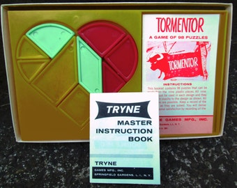 1961 Tormentor Game of 98 Puzzles. Tryne Puzzle in Original Box.  Logic.   Y-008