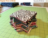 """ON SALE Fabric 5"""" squares perfect for quilting"""