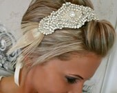 ON SALE Wedding Headpiece, Bridal Headband, SAVVY, Ribbon, Crystal, Accessories, Rhinestones, Bridal, Wedding, Hair Accessory