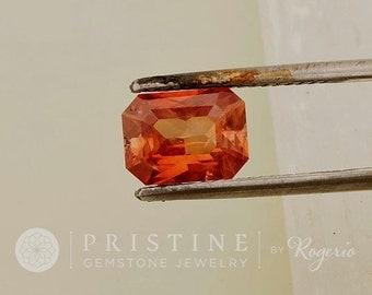 Orange Sapphire Radiant Cut Shape 1.91 Carats  Gemstone for Jewellery