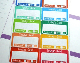 Today's Goal Planner Stickers-Rainbow Set