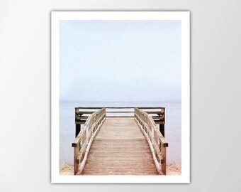 Beach Print, Ocean Pier, Coastal, Beach House Decor, Wall Art, Ocean Print, Coastal Wall Art, Beach Poster, Summer Home Decor, Beach Print