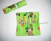 Baseball Birthday Party Favors, Crayon Roll Up, Pink Baseball