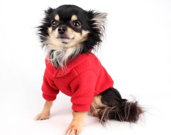 Dog Hoodie Polar fleece Dog Sweater in your choice of Colour