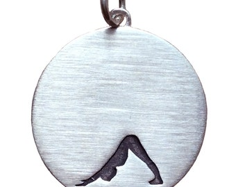 Sterling Silver Yoga Down Dog Necklace