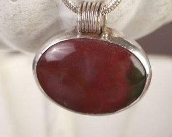 Rich brown necklace embraced in silver