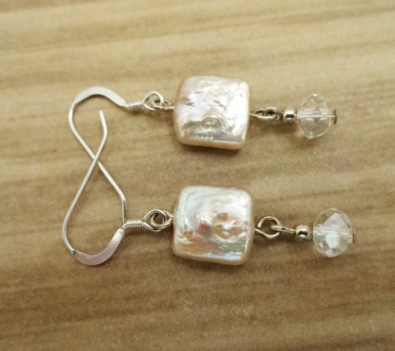Square Pearl Earrings