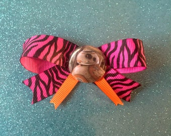 Star Wars BB8 Zebra Print Hair Bow