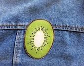 Kiwi fruit iron on patch
