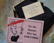 1956 For the Woman Who Has Everything Stocking 33 in long Coin Purse The Leister Game Co. Sock it Away Novelty Gift