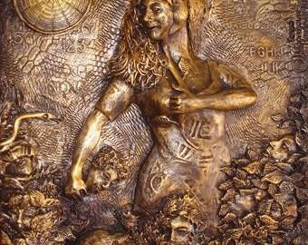 Secret Keeper In the Garden of Personas: Bronze Narrative Sculpture