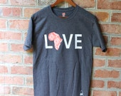 LOVE Africa T-shirt: Small Coral