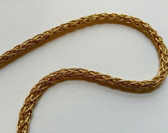 Gold coloured cord, french made (cordon lurex), for broderie d'art