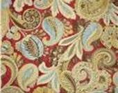 Custom Iman Sarong Swirl Blossom Bench Cushion