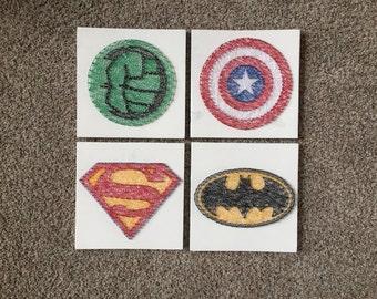 Made to order superhero string art