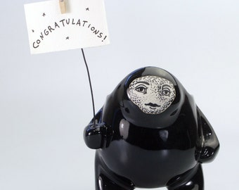 Super Shiney Black Creature Pot