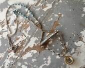 ON HOLD(J)-----Prayer Bead Necklace- Boho Jewelry -  Rosary Necklace - Gypsy Jewelry - OOAK Vintage