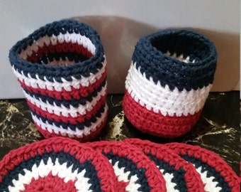 Can Cozy, Coasters, Bottle Cozy, Fourth of July, Patriotic, Can Cozies, Bottle Cozies