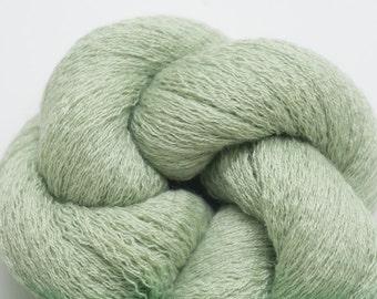 Sea Glass Wool Silk Blend Cobweb Weight Reclaimed Yarn, 2904 Yards Available