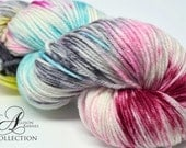 Hand Dyed Superwash Merino Wool Yarn - Cozy Worsted Weight - Cutie Patootie