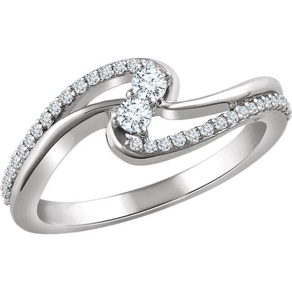 two stone forever us diamond ring diamond engamnet ring. Black Bedroom Furniture Sets. Home Design Ideas