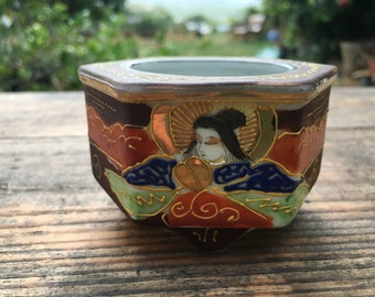 God, Goddess Porcelain Sugar Bowl