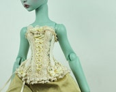 Victorian Gold BJD Antique Line corset for Cerisedolls Cartoon MSD