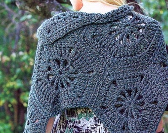 Crochet Pattern / Crochet Cover Up Pattern / Crochet Shrug Pattern / Crochet Bolero Pattern / PDF Pattern / Instant Download