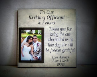 Wedding Officiant Gift : Perfect For The Friend & Wedding Officiant, Wedding Thank You Gift, Personalized Wedding Gift