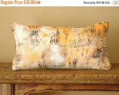 "ON SALE Boho Linen & recycled burlap ooak accent throw pillow case.   8"" x 16"" ooak .. / ETHNICS Moments"