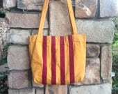 """70s French """"Les Toiles du Soleil"""" Tote Bag - Made in France"""