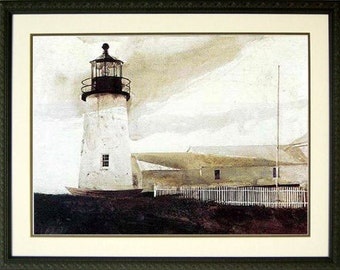 Light House Nautical Art Print By Andrew Wyeth  31x23