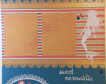 Sweet Mermaidia - 12x12 Premade 1 Page Layout