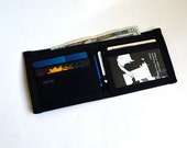 Black Seat Belt Wallet with ID Pocket