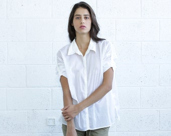 SALE! Button Down Shirt, White.