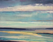"""Original Oil Painting, Abstract Seascape - 24x24"""""""