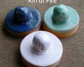 As Is #1 - Set - Stoneware Cookie Stampers - Pentacle