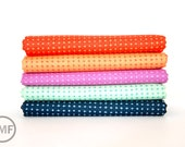 Tucker Prairie Tiny Crosses Fat Quarter Bundle, 5 Pieces, One Canoe Two, Moda Fabrics, 100% Cotton Fabric, 36006