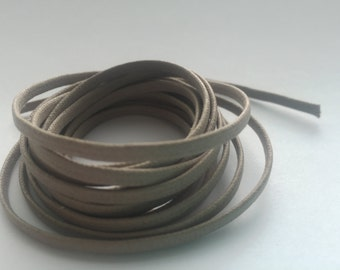 Neutral Leather Look Waxed Linen Cord