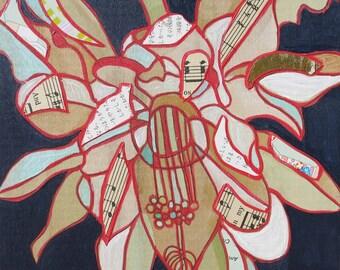 Ephillium mini painting on wood 376