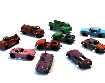 Vintage Toy Car Collection Tootsie Toy & Midge Toy 10 Cars