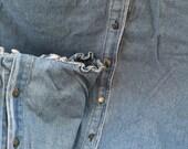 Pr vintage Ralph Lauren faded distressed heavy denim euro shams summer porch!!