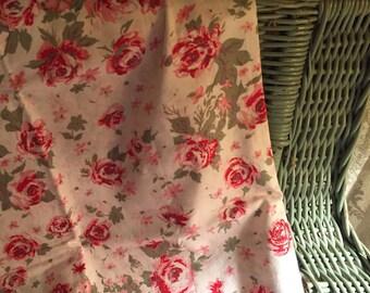 Yardage Paris Bebe Fabrics by Ribin Mynatt designs romantic country chic red pink sage shabby roses