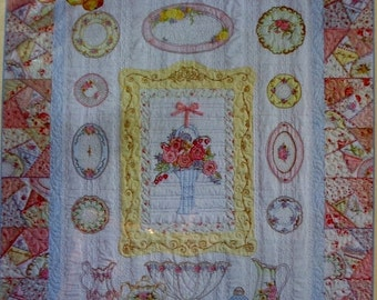 SALE Crab Apple Hill PIECES OF The Past - Quilt Pattern & Cosmo Embroidery Floss And Thread