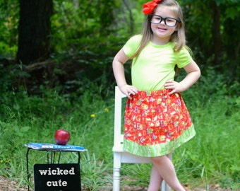 Red  123-456  Skirt  (2T, 3T, 4T, 5, 6, 7, 8, 10)