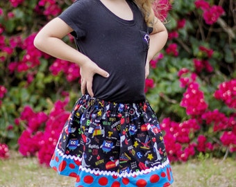 School is Cool  Skirt (18 mos, 24 mos, 2T, 3T, 4T, 5, 6, 7, 8, 10)