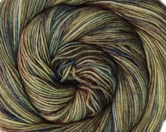 SALE sw merino nylon sport yarn BLUEBERRY BALLET 3.5oz 306 yards hand dyed